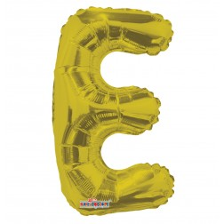 """AirFilled: 14"""" LETTER E GOLD"""