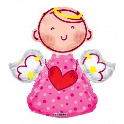 "28"" SP: PR Pink Angel Shape"