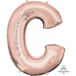 """Anagram SuperShape Letter """"C"""" Rose Gold"""