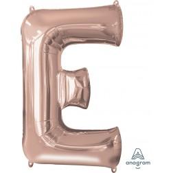 """Anagram SuperShape Letter """"E"""" Rose Gold"""