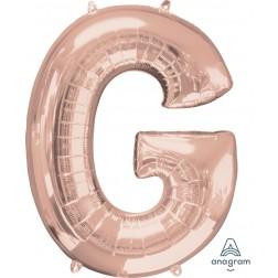 """Anagram SuperShape Letter """"G"""" Rose Gold"""