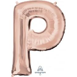 """Anagram SuperShape Letter """"P"""" Rose Gold"""