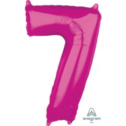 """Anagram Mid-Size Shape Number """"7"""" Pink 26 inch"""