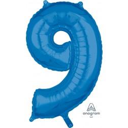 "Anagram Mid-Size Shape Number ""9"" Blue 26 inch"