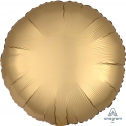 Standard Satin Luxe Gold Sateen Circle  (Flat)