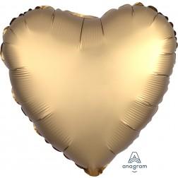 Standard Satin Luxe Gold Heart