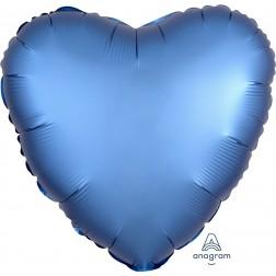 Standard Satin Luxe Azure Heart