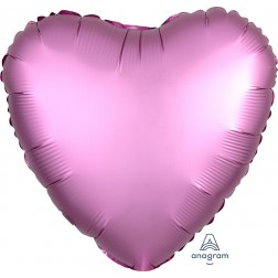 Standard Satin Luxe Flamingo Heart