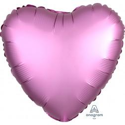 Standard Satin Luxe Flamingo Heart  (Flat)