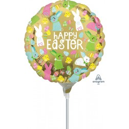 """9"""" Happy Easter Gold"""