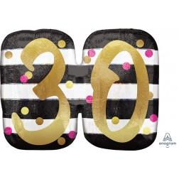 SuperShape Holographic Pink & Gold Milestone 30