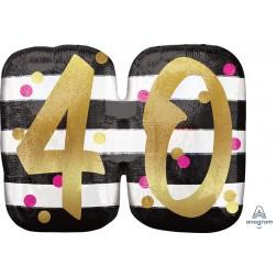 SuperShape Holographic Pink & Gold Milestone 40