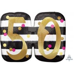 SuperShape Holographic Pink & Gold Milestone 50