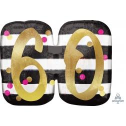 SuperShape Holographic Pink & Gold Milestone 60