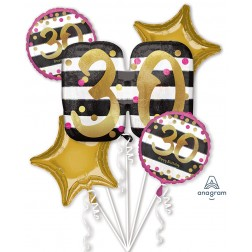 Bouquet Pink & Gold Milestone 30