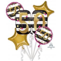Bouquet Pink & Gold Milestone 50
