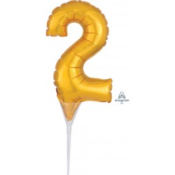 """Anagram CI: Cake Pick Numbers Micro Number """" 2 """" Gold"""