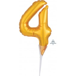 """Anagram CI: Cake Pick Numbers Micro Number """" 4 """" Gold"""