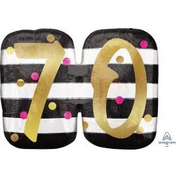 SuperShape Holographic Pink & Gold Milestone 70