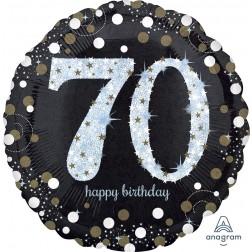 Jumbo Holographic Sparkling Birthday 70