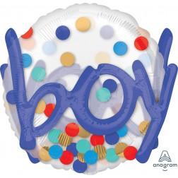 See-Thru Multi-Balloon It's A Boy Confetti Dots