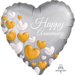 Standard Anniversary Platinum Hearts