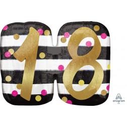 SuperShape Holographic Pink & Gold Milestone 18