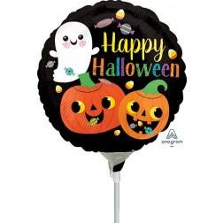 "9"" Happy Ghost & Pumpkins"
