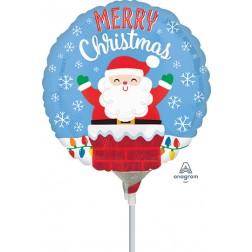 """4"""" Santa in Chimney"""