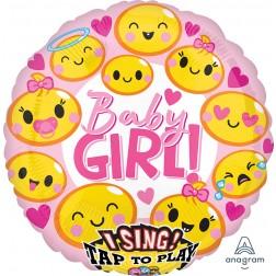 Jumbo Sing-A-Tune Emoticon Baby Girl