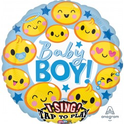 Jumbo Sing-A-Tune Emoticon Baby Boy