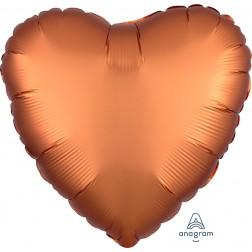 Standard Satin Luxe Amber Heart  (Flat)