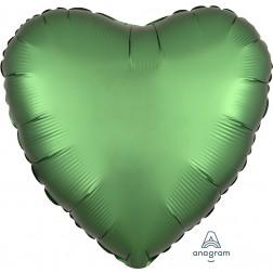 Standard Satin Luxe Emerald Heart  (Flat)