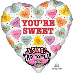 Jumbo Sing-A Tune Sweet Candy Hearts