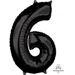 """Anagram Mid-Size Shape Number """"6"""" Black 26 inch"""