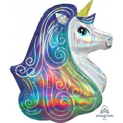 SuperShape Holographic Iridescent Rainbow Unicorn