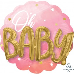 Multi-Balloon Pink Baby Girl