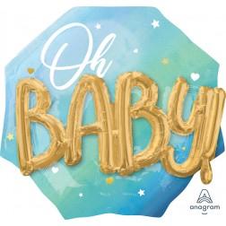 Multi-Balloon Blue Baby Boy