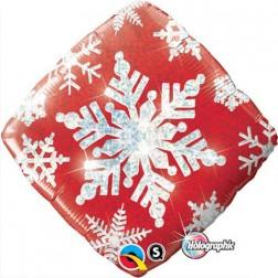 "18"" Snowflake Sparkles Red"