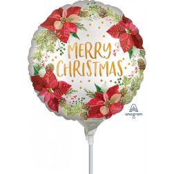 "4"" Satin Infused Poinsettia Christmas"