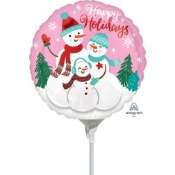 """9"""" Happy Holidays Snow Family"""