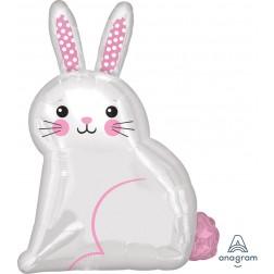 Junior Shape White Satin Bunny