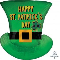 SuperShape St. Patrick's Day Satin Top Hat