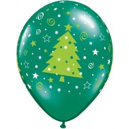 "11"" Christmas Trees Stars & Swirls Asst (50ct)"