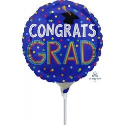"""9"""" Congrats Grad Colorful Dots"""