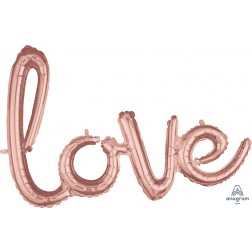 CI: Script Phrase Love Rose Gold