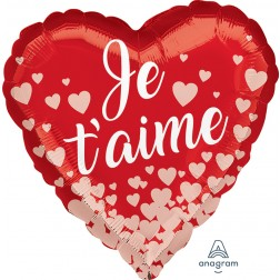 Standard Je t'aime Rose Gold Hearts