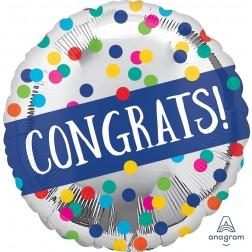 Standard Congratulations Silver Dots