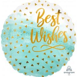Standard Best Wishes Gold Confetti