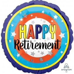 Standard Happy Retirement Colorful Circles